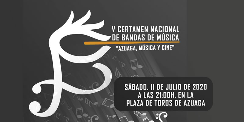 """V Certamen nacional de Bandas de Música """"Azuaga, Música y Cine"""""""