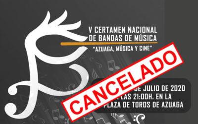 """CANCELADO V Certamen nacional de Bandas de Música """"Azuaga, Música y Cine"""""""